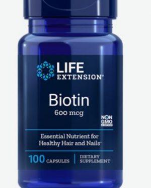 biotin 600mg 100 le 300x375 - Biotine 600 mcg- 100 Capsules - Life Extension
