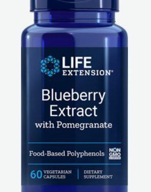 bosbes extract met granaatappel   60 vegetarische capsules   life extension 295x375 - Bosbes Extract met granaatappel - 60 vegetarische capsules - Life Extension