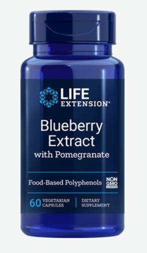 bosbes extract met granaatappel   60 vegetarische capsules   life extension - Bosbes Extract met granaatappel - 60 vegetarische capsules - Life Extension