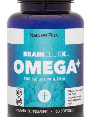 brainceutix omega 500 mg 60 softgels   nature s plus1 300x375 - Brainceutix Omega+ 500 mg (60 Softgels) - Nature's Plus