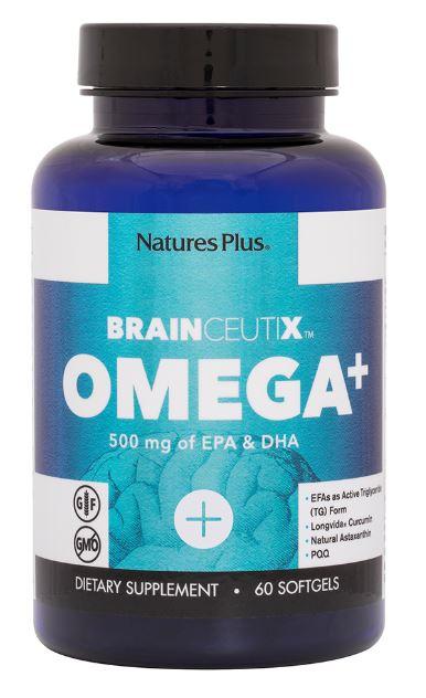 brainceutix omega 500 mg 60 softgels   nature s plus1 - Brainceutix Omega+ 500 mg (60 Softgels) - Nature's Plus