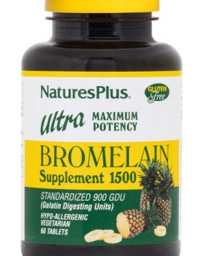 bromelain supplement 1500 ultra maximum potency 60 tablets   nature s plus1 300x375 - Bromelain Supplement 1500 Ultra Maximum Potency (60 Tablets) - Nature's Plus