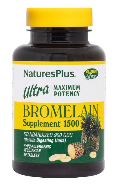 bromelain supplement 1500 ultra maximum potency 60 tablets   nature s plus1 - Bromelain Supplement 1500 Ultra Maximum Potency (60 Tablets) - Nature's Plus