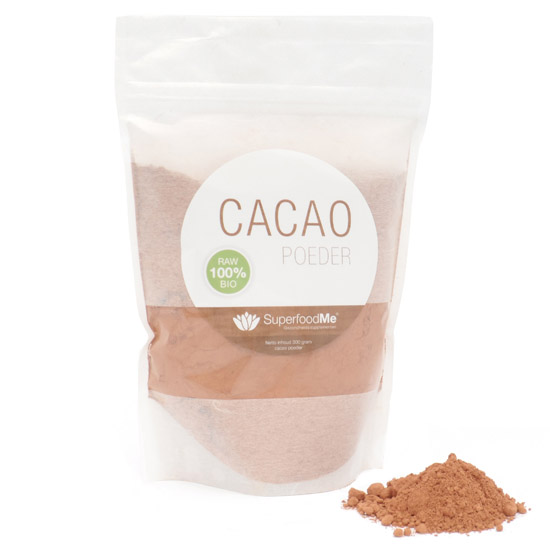 cacaopoeder zak - Biologisch Cacaopoeder (300 gram) - Superfoodme