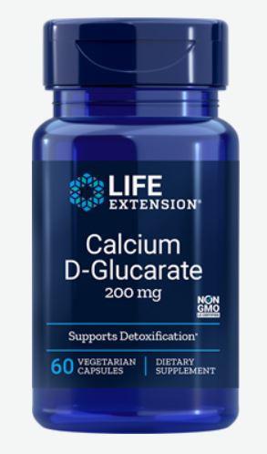 calcium d glucarate 200 mg 60 veggie capsules   life extension - Calcium D-Glucarate 200 mg (60 Veggie Capsules) - Life Extension