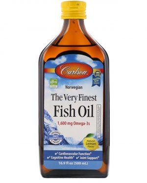 carlson fishoil 1 300x375 - Norwegian - The Very Finest Fish Oil - Natural Lemon Flavor (500 ml) - Carlson Laboratories