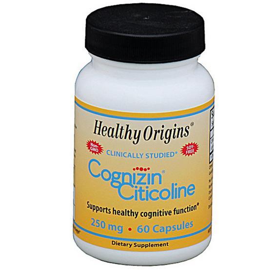 cc1 - Cognizin Citicoline 250 mg (60 Veggie Caps ) - Healthy Origins