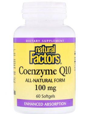 coenzyme q10  100 mg 60 softgels   natural factors 1 300x375 - Coenzyme Q10- 100 mg (60 softgels) - Natural Factors