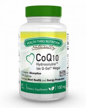 coq10 100mg as q gel 60ct 8 300x375 - Hydrosoluble CoQ-10 (as Q-Gel) 100 mg (60 Softgels) - Health Thru Nutrition