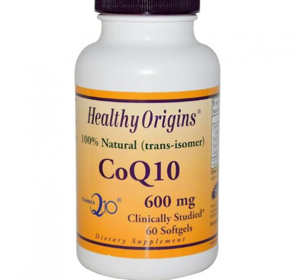 coq10 600mg healthy origins 1 600x569 - CoQ10, Kaneka Q10, 600 mg (60 Softgels) - Healthy Origins