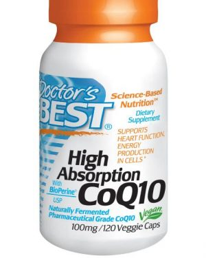 coq10 doctors best 1 300x375 - Hoge Opname CoQ10, 100 mg (120 Veggie Caps) - Doctor's Best