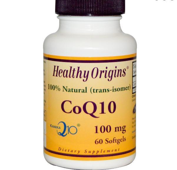 coq10 healthy origins 1 - CoQ10 Gels (Kaneka Q10), 100 mg, (60 Softgels) - Healthy Origins