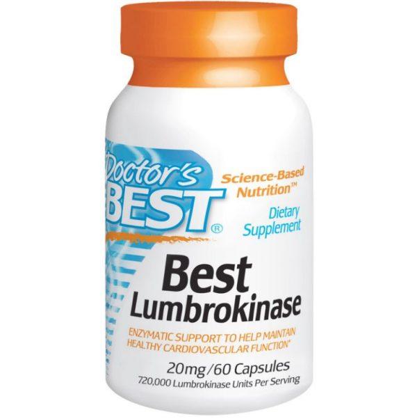 doctor s best best lumbrokinase 20 mg 60 capsules 600x602 - Best Lumbrokinase 20 mg (60 Capsules) - Doctor's Best