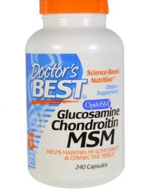 doctors best glucosamin msm 1 300x375 - Glucosamine, Chondroïtine en MSM (240 Capsules) - Doctor's Best