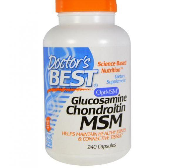 doctors best glucosamin msm 1 600x575 - Glucosamine, Chondroïtine en MSM (240 Capsules) - Doctor's Best