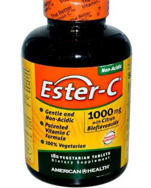 ester c american health 1 300x375 - Ester-C Vitamine C met Citrus Bioflavonoiden (180 Veggie Tablets) - American Health