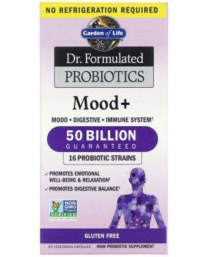 gardenlife mood 60 1 300x375 - Dr. Formulated Probiotics Mood+ (60 Vegetarian Capsules) - Garden of Life