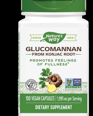 glucomannaan konjac root 665 mg 100 vegetarische capsules   nature s way1 300x375 - Glucomannaan Konjac Root 665 mg (100 vegetarische capsules) - Nature's Way