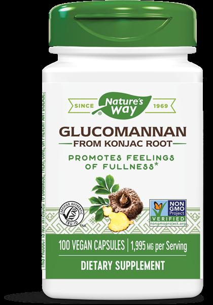 glucomannaan konjac root 665 mg 100 vegetarische capsules   nature s way1 - Glucomannaan Konjac Root 665 mg (100 vegetarische capsules) - Nature's Way