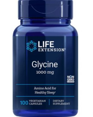 glycine 1000 mg1 300x375 - Glycine 1000 mg (100 vegetarische capsules) - Life Extension