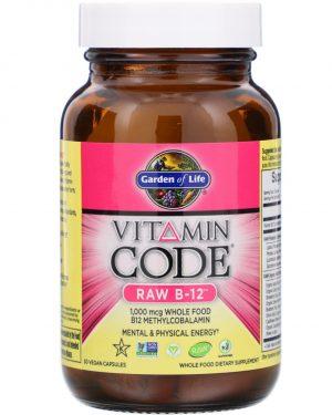 gol arwcode 3 300x375 - Vitamin Code - Raw B-12 (30 Vegetarian Capsules) - Garden of Life