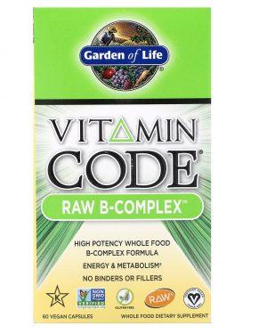 gol bcomplex 1 300x375 - Vitamin Code - Raw B-Complex (60 Vegetarian Capsules) - Garden of Life