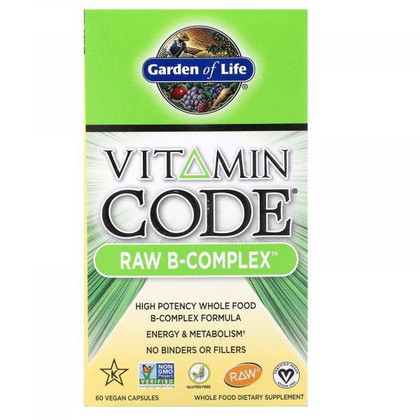 gol bcomplex 1 600x600 - Vitamin Code - Raw B-Complex (60 Vegetarian Capsules) - Garden of Life