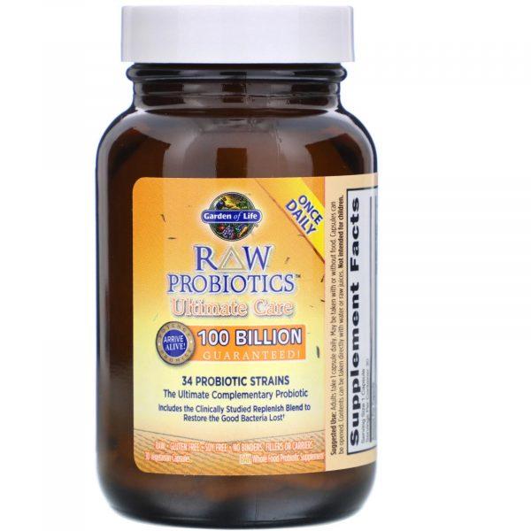 gol probiotics 30 3 600x600 - RAW Probiotics - Ultimate Care (30 Vegetarian Capsules) - Garden of Life