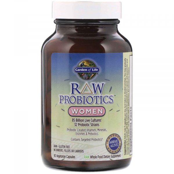 gol probiotics women 3 600x600 - RAW Probiotics- Women (90 Vegetarian Capsules) - Garden of Life