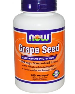 grapeseed now foods 1 300x375 - Druivenpit Extract, 100 mg (200 Vcaps) - Now Foods