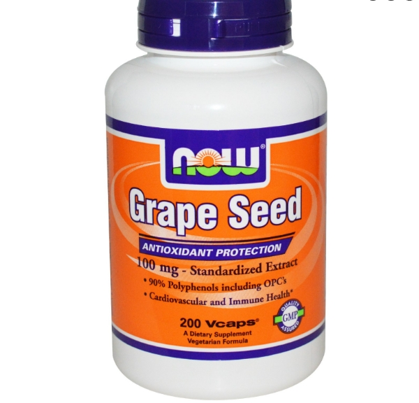 grapeseed now foods 1 - Druivenpit Extract, 100 mg (200 Vcaps) - Now Foods