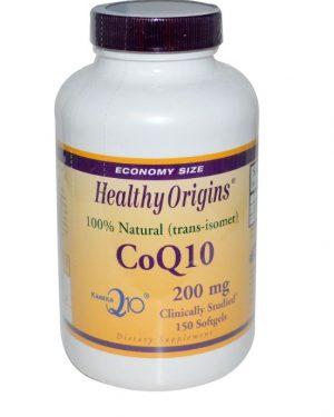 healthy origins coq10 kaneka q10 200 mg 150 softgels 300x375 - CoQ10 (Kaneka Q10), 200 mg (150 Softgels) - Healthy Origins