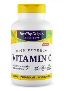 healthyorigins vitc 120 1 300x375 - Vitamin C 1000 mg (Non-GMO L-Ascorbic Acid) 120 Vcaps - Healthy Origins