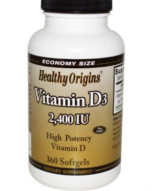 healtthy origins 2400ie 1 300x375 - Vitamine D3 2400 IE (360 Softgels) - Healthy Origins