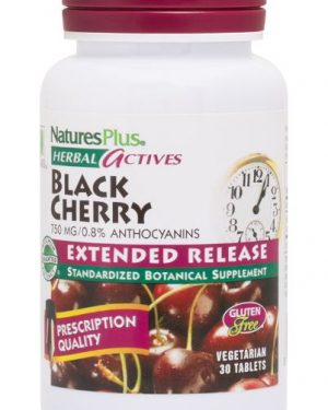 herbal actives   black cherry 750 mg 30 tablets   nature s plus1 300x375 - Herbal Actives - Black Cherry 750 mg (30 Tablets) - Nature's Plus