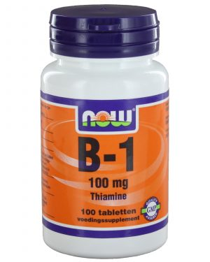 img 3215 300x375 - B1 100 mg (100 tabs) - NOW Foods