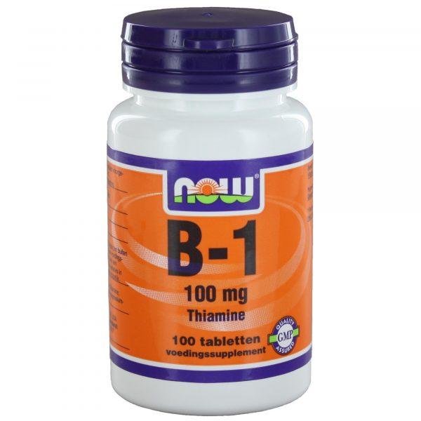 img 3215 600x600 - B1 100 mg (100 tabs) - NOW Foods