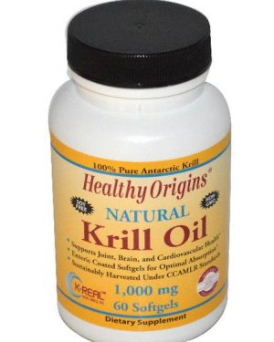 ko1 300x375 - Krill Oil Natural Vanilla Flavor 1000 mg (60 Softgels) - Healthy Origins