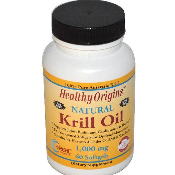 ko1 - Krill Oil Natural Vanilla Flavor 1000 mg (60 Softgels) - Healthy Origins