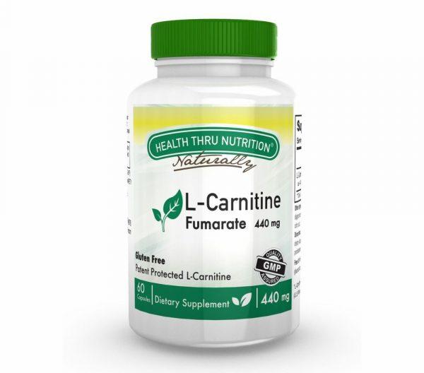 l carnitine fumarate 60 capsules 13 600x528 - L-Carnitine 440 mg (60 Capsules) - Health Thru Nutrition