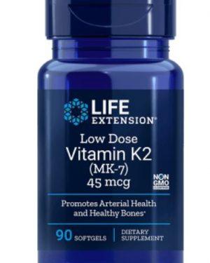 low dose vitamin k2 45 mcg 1 300x375 - Low-Dose Vitamin K2 45 Mcg - 90 Softgels - Life Extension