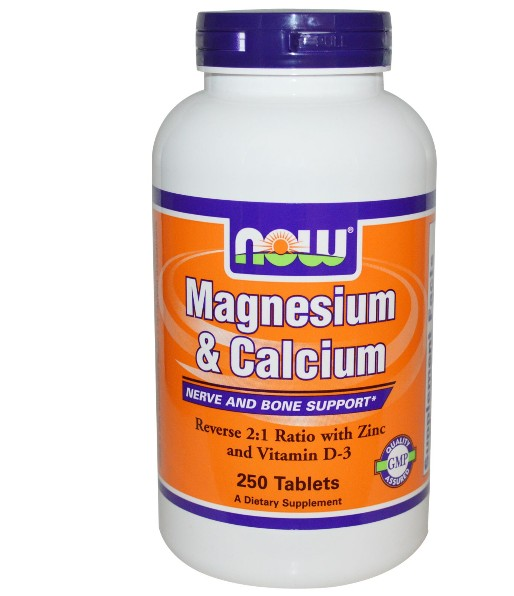 magnesium calcium now foods 1 - Magnesium & Calcium (2:1) met Zink en Vitamine D (250 tabletten) - Now Foods