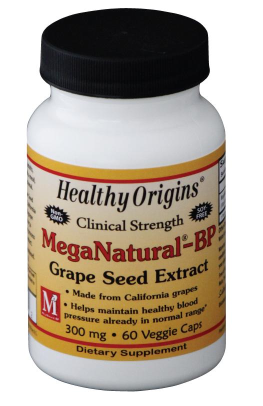 meganatural 300mg 60 - MegaNatural-BP Grape Seed Extract 300 mg (60 Veggie Caps ) - Healthy Origins