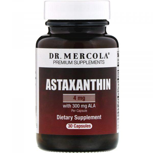 mercola astaxanthin 4mg 1 600x600 - Astaxanthine (30 Capsules) - Dr. Mercola