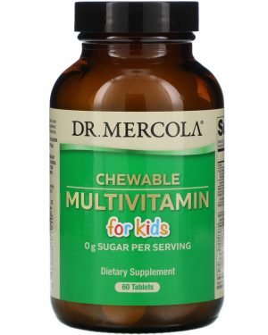 mercola chewable multi kids 1 300x375 - Children's Multivitamin Fruit Flavored Chewables (60 Tablets) - Dr. Mercola