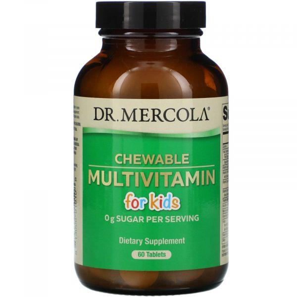 mercola chewable multi kids 1 600x600 - Children's Multivitamin Fruit Flavored Chewables (60 Tablets) - Dr. Mercola