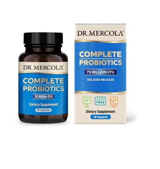 mercola complete probiotics 30 1 - Complete Probiotica, 70 miljard CFU's (30 Capsules) - Dr. Mercola