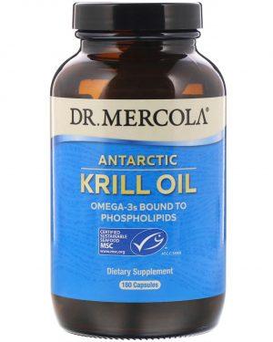 mercola krill 180 1 300x375 - Dr. Mercola, Premium Supplements, Antarctic Krill Oil, 180 Capsules