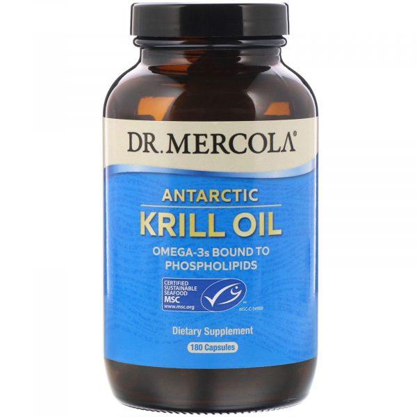 mercola krill 180 1 600x600 - Dr. Mercola, Premium Supplements, Antarctic Krill Oil, 180 Capsules