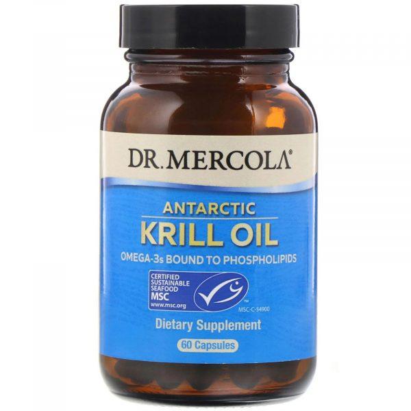 mercola krill 60 1 600x600 - Krill Olie, 1000 mg (60 Softgels) - Dr. Mercola